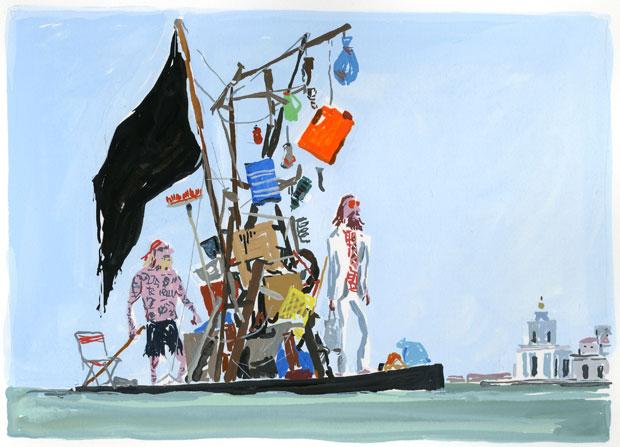 Alternative sailing to the Punta delle Dogana