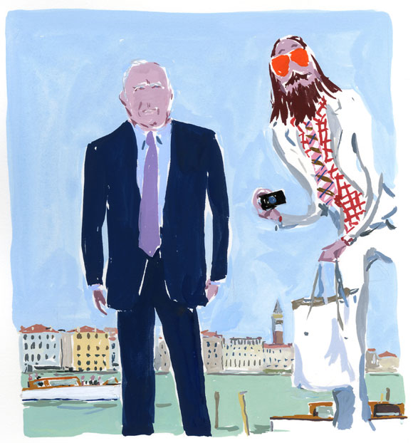 With François Pinault