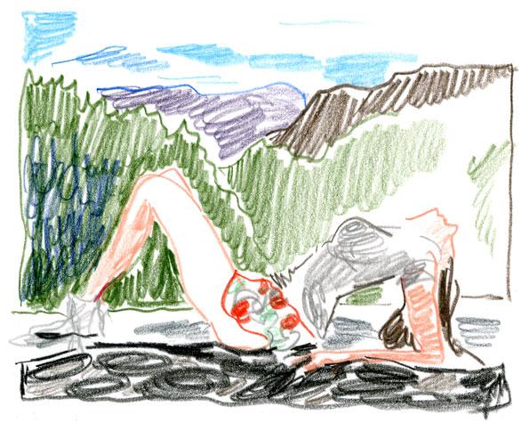 """""""Natacha Ramsay in Arizona"""", after Olivier Zahm"""